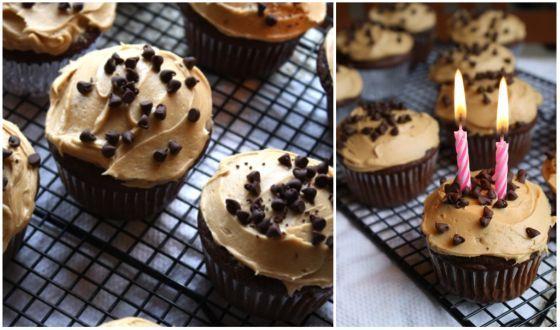Chocolate PB Chip Cupcakes recipe