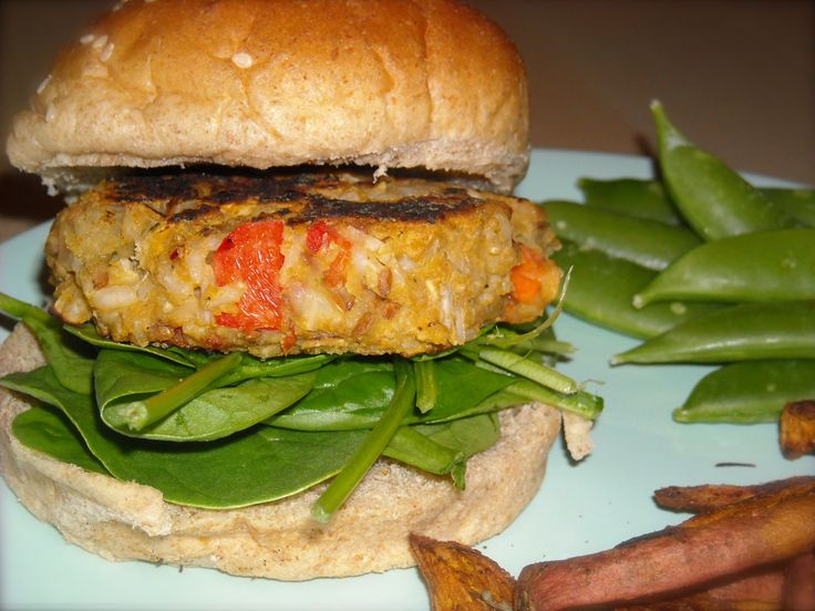 Chickpea and Brown Rice Veggies Burgers | Favorite Recipes | Pinterest