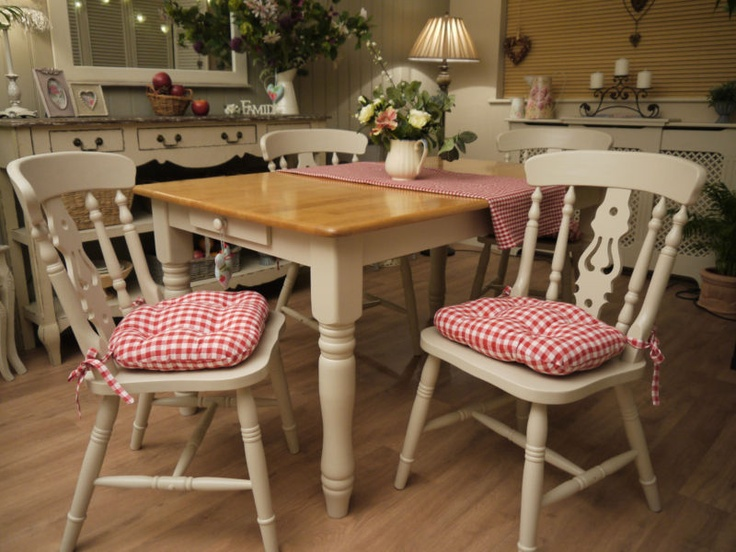 Table And Chairs Dining Room Set Kitchen Beech Farmhouse Style EBay