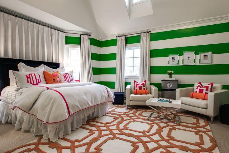 teenage girl 39 s preppy bedroom love the stripes heather underwood