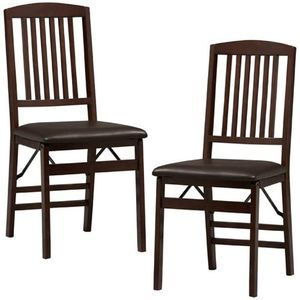 Two Wooden Folding Mission Style Chairs Cosco Chairs