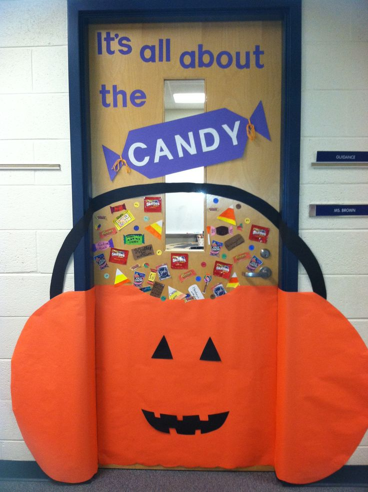 Halloween Classroom Door Decorations Ideas : Halloween door decoration school holidays pinterest