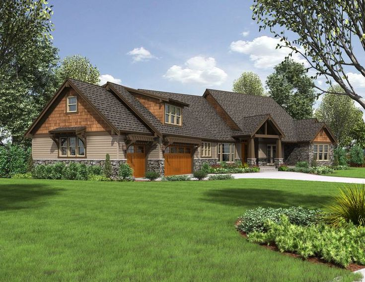 Craftsman Style Ranch Homes House Plan 2471 The Braecroft
