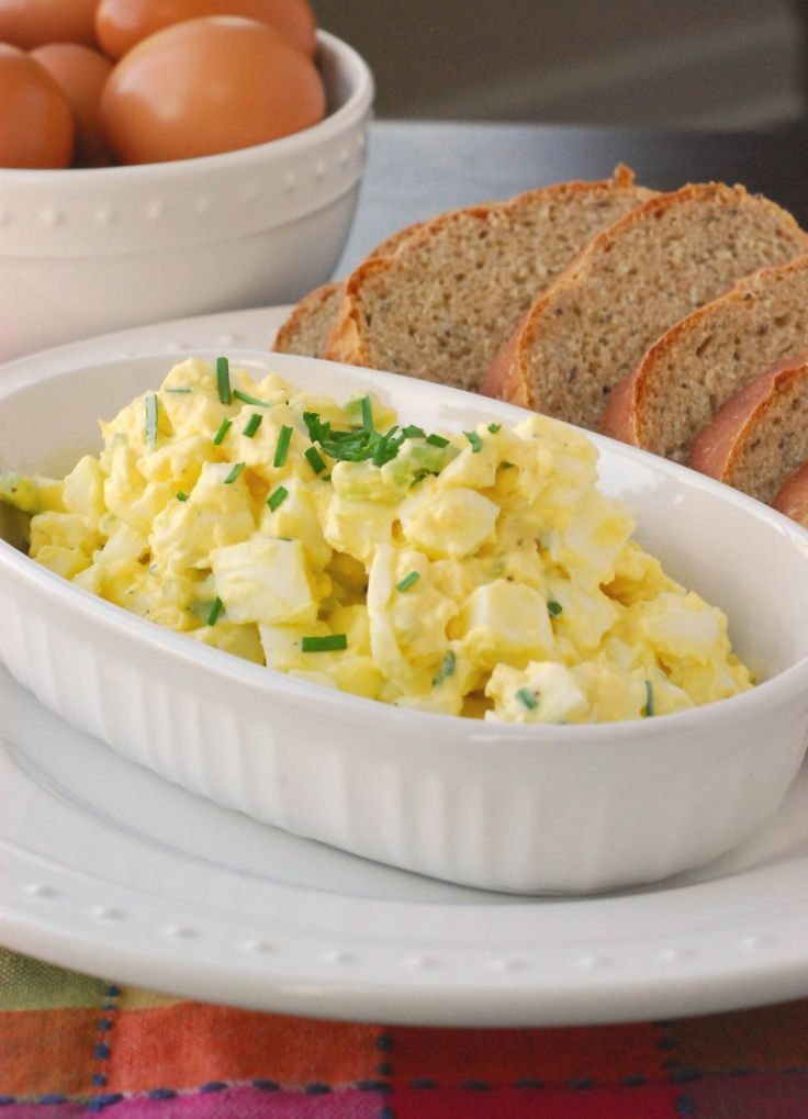 Creamy Egg Salad - would revise to include miracle whip with chives ...