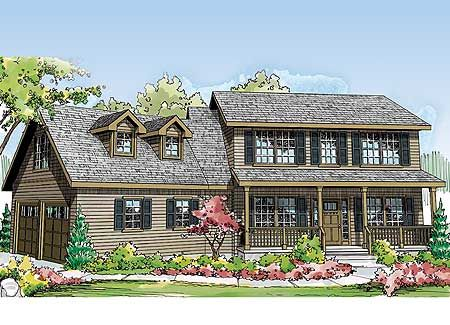 Two Story Country Home Plan