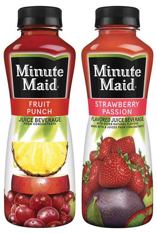 Minute Maid--Fruit Punch and Strawberry Passion...but mostly ...