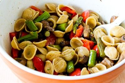 ®: Whole Wheat Orecchiette Pasta Salad Recipe with Roasted Asparagus ...