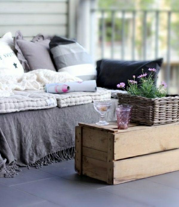 selber bauen Palettenmöbel Garten Balkon  PALLETTEN ...