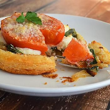 Tomato, Spinach and Ricotta Tart {Vegan} | Recipes to Cook | Pinterest