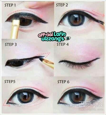 Eyes makeup steps pint...