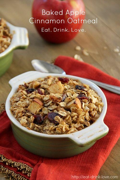 Baked Apple Cinnamon Oatmeal | Food | Pinterest
