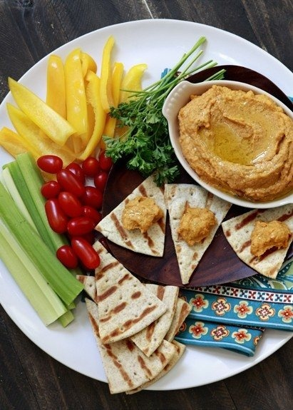 roasted red bell pepper hummus | lets try this | Pinterest