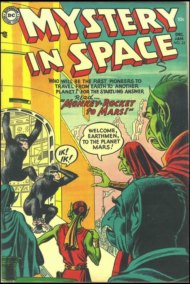 Mystery in Space Covers