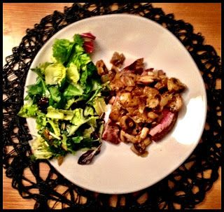 Grilled Flank Steak with a Garlicky Mushroom and Onion Sauce ...
