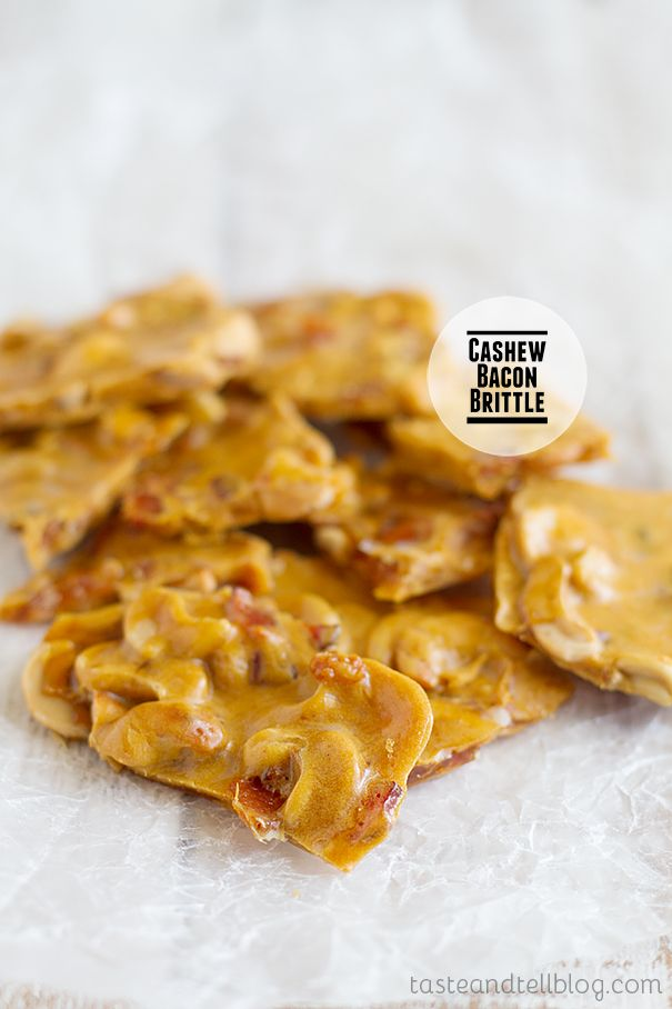 Cashew Bacon Brittle | Taste and Tell