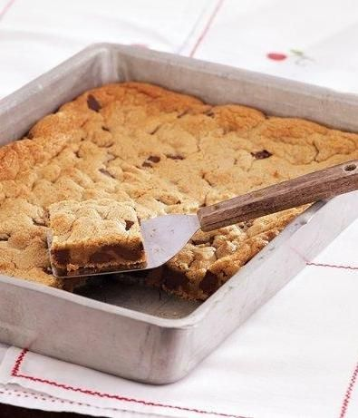 Chocolate-Peanut Butter Blondies, #Butter