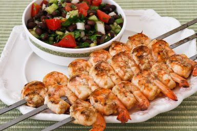 Nick's Chipotle Grilled Shrimp with Black Bean Salsa [from ...