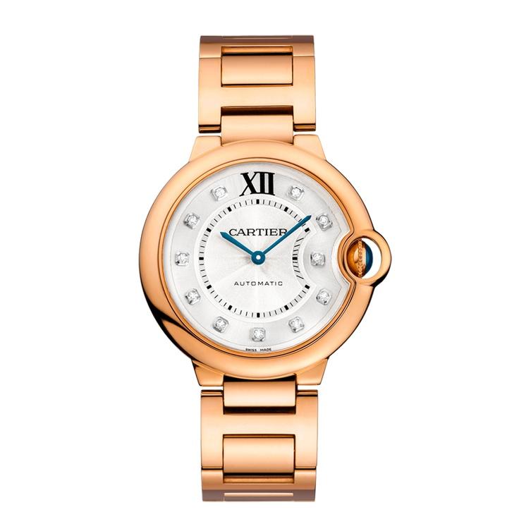 Cartier Ballon BLEU WATCH in 18k pink gold & diamonds. Breathless!