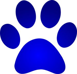 Blue Paw Print With Gradient clip art | Furbebe's | Pinterest