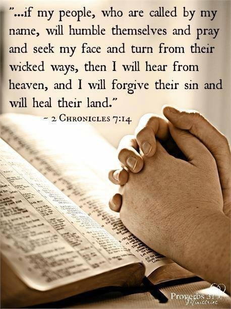 Lord, I pray this prayer for the United States. We have separated ourselves from you. Please forgive us and heal our land