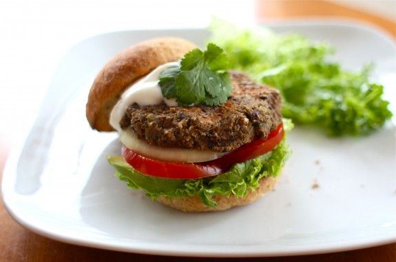 black bean burgers! always looking for a good veggie option for ...