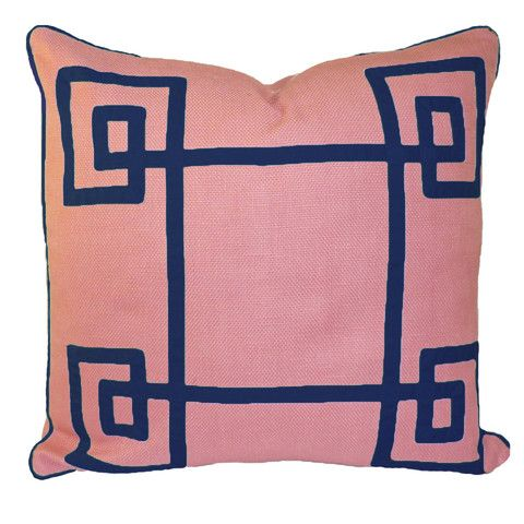 Pink amp navy eternity pillow for the home pinterest