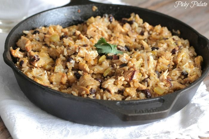 Chicken and Black Bean Green Chili Rice Skillet. This was good, but ...