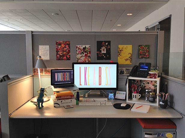 DIY Cubicle Decor: Tips and Tricks from an HGTV and DIY Network Designer >> http://blog.diynetwork.com/maderemade/2014/02/10/diy-cubicle-decor-dress-up-your-desk/?soc=pinterest
