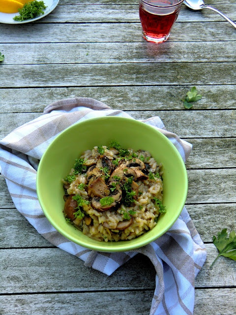 lemon and thyme risotto with mushrooms | Beautiful Foods | Pinterest
