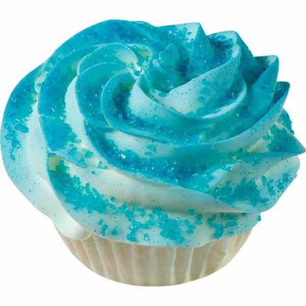 Blue Cupcake Images : Blue Quick Color Cupcake Recipe