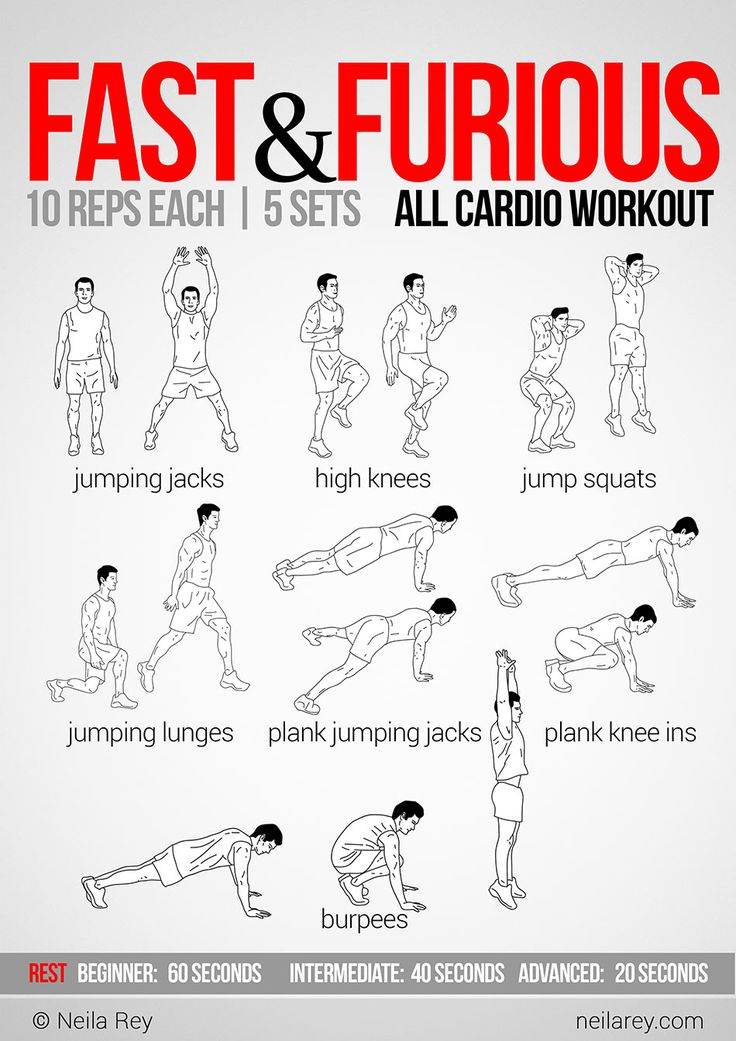 Fast and Furious All Cardio Workout | Weight Loss {stop ...