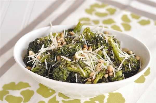 Roasted Broccoli with Parmesan and Pine Nuts | Recipe