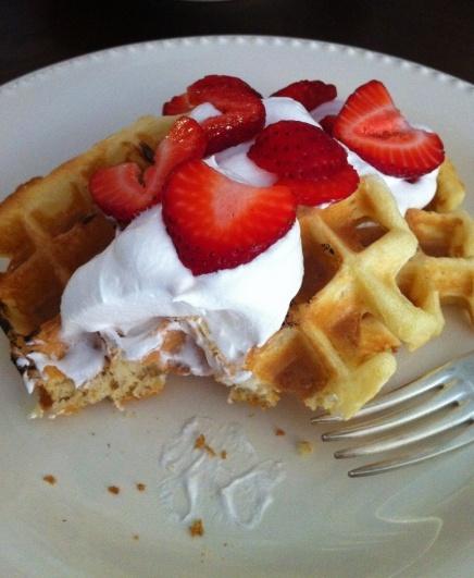 sour cream waffles. | Waffles | Pinterest