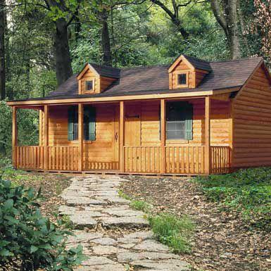 Unfinished homesteader log cabin diy cabin kits for sale for Log cabin garages for sale