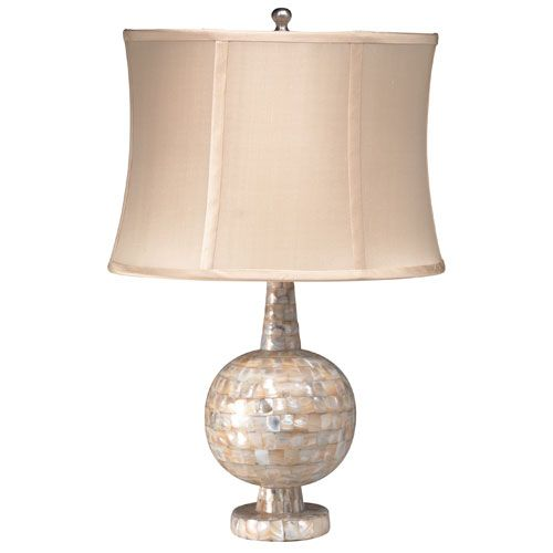 mother of pearl round belly table lamp blissful bedtime at poshtots. Black Bedroom Furniture Sets. Home Design Ideas