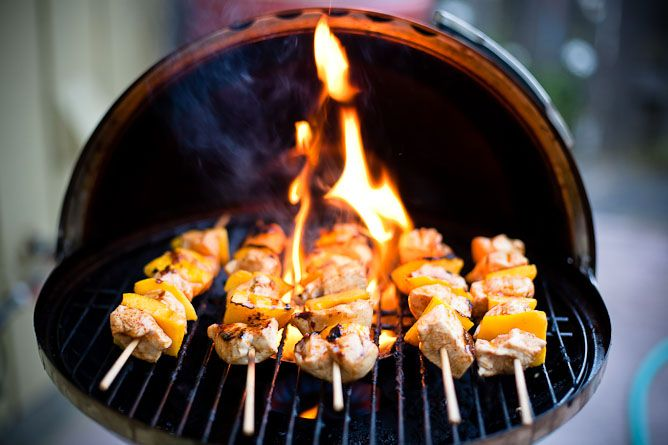 Chicken Mango Skewers | guilty mmmmmm.... | Pinterest