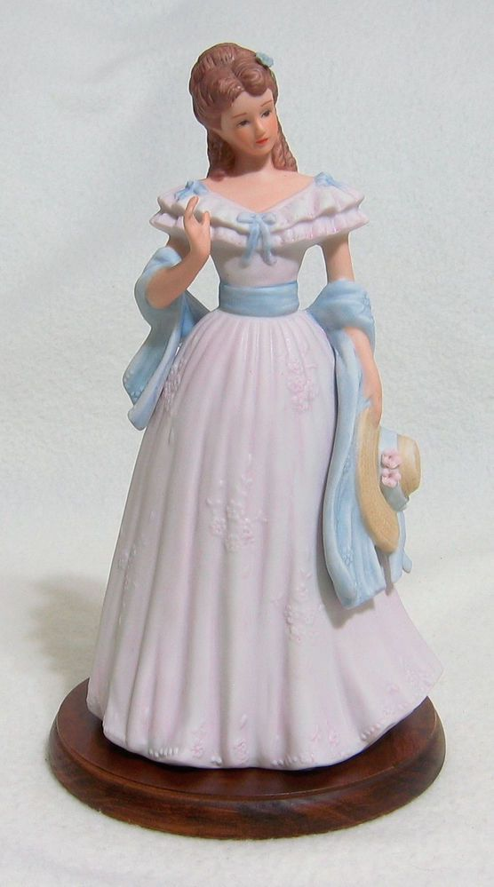 Home interior homco masterpiece porcelain sarah jane lady Home interiors figurines homco