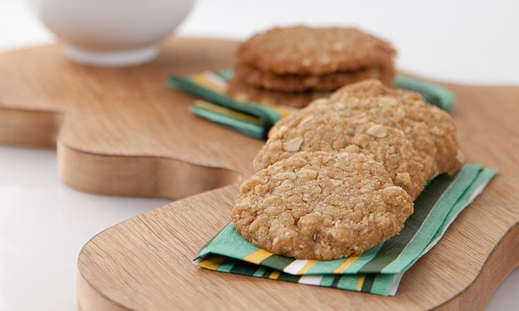 Anzac Biscuits with a difference made with EVOO instead of butter.