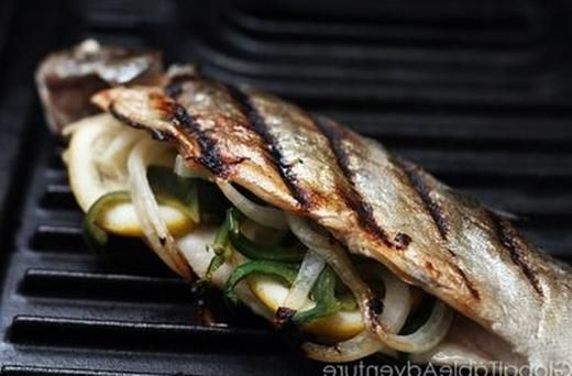 Stuffed Grilled Trout | Stick to your ribs food | Pinterest