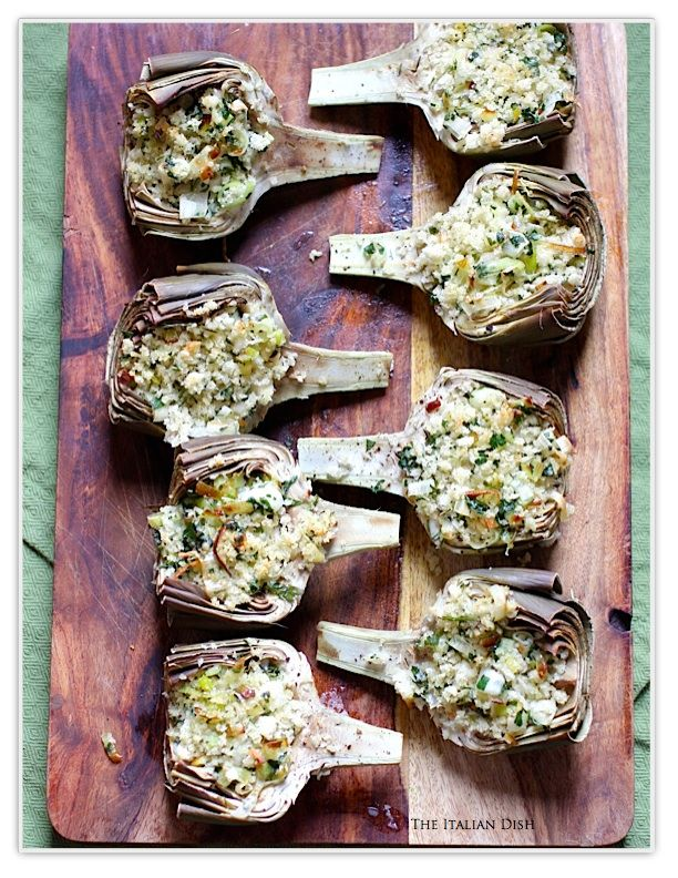 The Italian Dish - Posts - Baked Stuffed Artichokes with Leeks (and ...