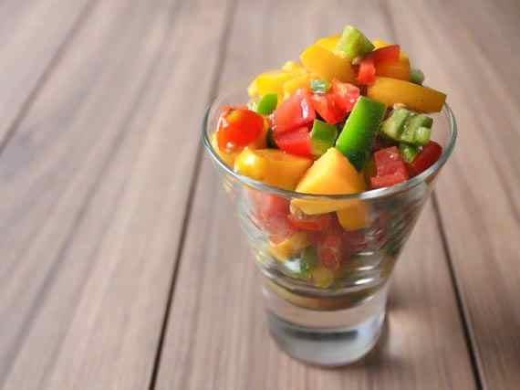 Mango and nectarine salsa. | To eat | Pinterest