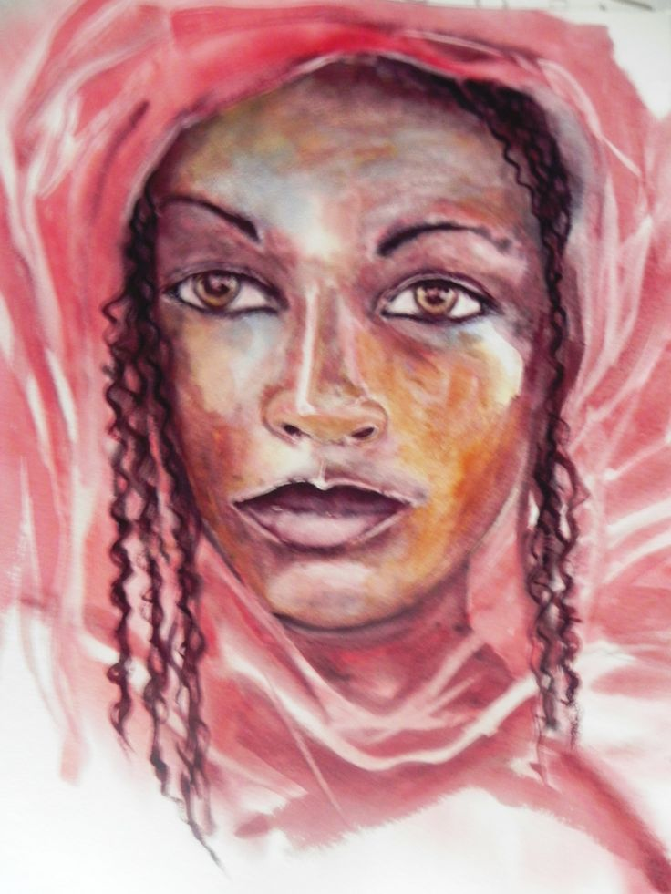 Jeune femme au voile rose  Portraits  Pinterest