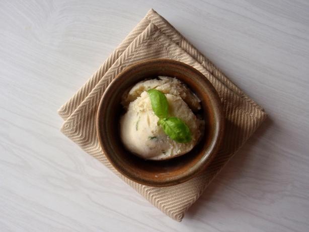Basil ice cream???? My dad grows five varieties of basil, I'm SO ...