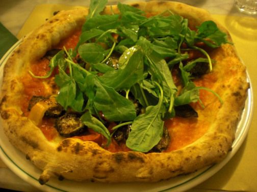 ... Neapolitan #Pizza w/ Roasted Eggplant, Zucchini, Bell Peppers