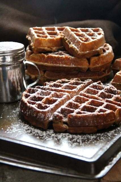 Gingerbread Waffles.... Breakfast this morning?
