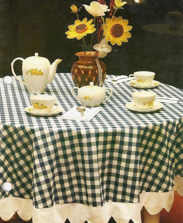 Como hacer un mantel para mesa redonda projects pinterest - Hacer un mantel ...