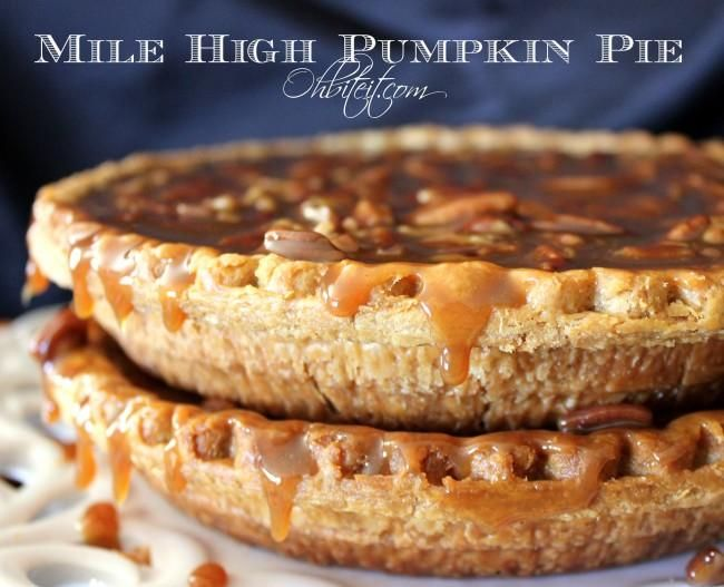 "Mile High Pumpkin Pie from ""Oh, Bite It"""