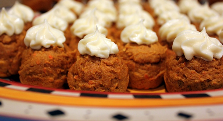 Low Fat Pumpkin Minicakes with Cream Cheese Frosting. Ingredients: 1 ...