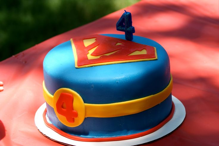 Super boy birthday cake
