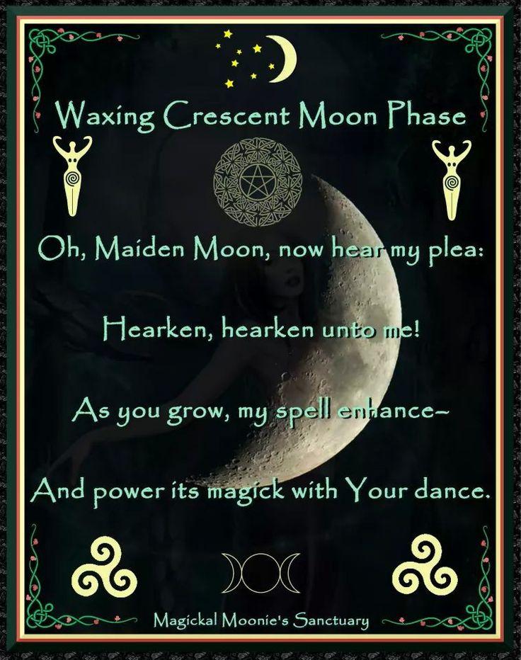 Waxing moon | Moon Phases | Pinterest